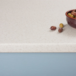 Our Duropal Glacial Storm laminate worktop is provided with a smooth 3mm post-formed edge profile.