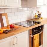 Oak Veneer worktops are a great way to get the look and feel of solid oak at a lower cost.