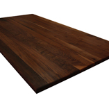 Full stave black American walnut extra wide island worktop.