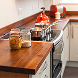 Full stave black American walnut worktops are truly one of the most luxurious surfaces in our collection.