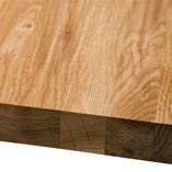 Full stave prime oak worktops with 40mm wide staves can be cut to size with our efficent bespoke service.