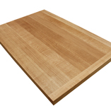 Full stave 2m X 260mm X 40mm prime oak worktop with 40mm end cap.