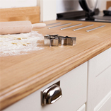 Full stave Prime Oak worktops are the perfect choice for country kitchens that deserve a stunning surface that is free of natural imperfections.