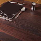 Full stave wenge is our most opulent wooden worktop choice - constructed from 90mm wide staves of the dark African timber that run the full length of the surface.
