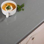 This gloss work surface has matching upstands and splashbacks available for a seamless look throughout your kitchen.