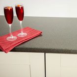 These grey glitter worktops are low maintenance and very easy to clean.