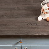 Grey oak laminate worktops are highly-affordable, yet have the appearance of luxurious full stave oak.