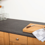 Our grey slate laminate worktops replicate the look of real stone and have a textured finish.