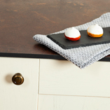 Hard-wearing Zenith worktops are resistant to heat, impact and wear as well as being completely waterproof.