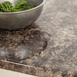 Whether you call it Caribbean Stone or Jamocha, this worktop has a highly reflective quality - perfect for a contemporary kitchen design.