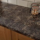 This Caribbean Stone - or Jamocha - surface is ideal if you are looking for an easy to clean laminate worktop.