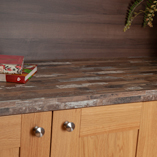 The design featured on our laminate Driftwood worktop has a fascinating weathered appeal.