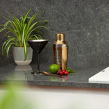 This laminate worktop has been bejewelled with iridescent flakes for a luxurious, yet low-maintenance option.