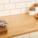 These laminate worktops have a realistic oak effect - they are also hardwearing, very easy to clean and low maintenance.