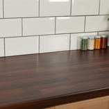 Black walnut block laminate worktops can be used in both traditional or contemporary kitchens to great effect.