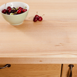 The light hue of an ash work surface looks fantastic in any setting, providing a brightening effect in any home.