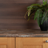 When combined with lighter wood cabinet doors, the our Sealand Pine Driftwood laminate worktops really stand out.