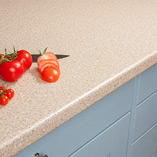 If you are looking for an affordable, low-maintenance kitchen surface, our Taurus Beige cream worktops are ideal.
