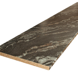 Our Magneta black marble laminate worktops come without finish on the two shorter sides, though edging strip is provided that can be fitted during installation.