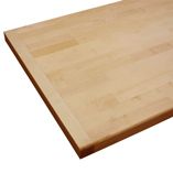 Maple worktop with end cap.