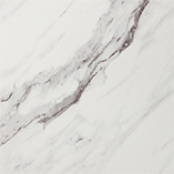 These stunning marble work surfaces are an elegant choice for kitchens with a delicate pastel colour palette.