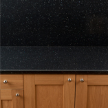 We sell matching Black Sparkle laminate splashbacks so you can create a cohesive and beautiful kitchen.