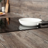 Mystic Pine laminate worktop have a textured finish to emulate the feel of real wood.