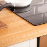 The natural beauty and warmth of oak is a welcoming option for any kitchen.