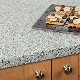 The neutral colours of our grey granite effect worktops make them suitable for use in any style of kitchen.