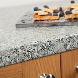 A stylish blend of neutral shades, our granite effect worktops look as good close up as they do from a distance.