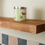Oak timber has unique natural grain and figuring - the perfect material from which to make our elegant floating shelves.