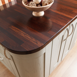 When oiled and polished wenge worktops take on a subtle reflective quality that only adds to its beauty.