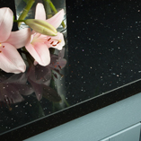 An opulent centrepiece at a low cost - our black Andromeda square edge worktops are a stunning addition to any kitchen.