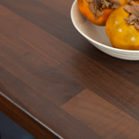 Our laminate black walnut block worktops feature a 3mm pencil edge profile.