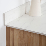 Much like the premium white marble solid laminate worktop, this matching upstand has a beautiful slimline profile.