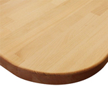 Prime Beech worktop with two radius corners.