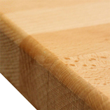 Prime Beech worktop with pencil edge profile.