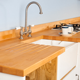 Prime Beech worktops are constructed from staves with few natural imperfections, chosen for their uniform colour.