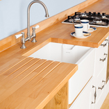 Our Prime Beech worktops are the ideal surface for a solid wood traditional kitchen.
