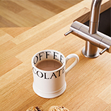 All customised Prime Oak worktops are pre-oiled with a food safe Danish Oil before delivery.