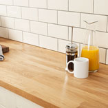 Prime Oak worktops are high quality and perfect for busy kitchens.