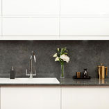 The realistic pattern of this polished stone effect worktop is a sophisticated option for any kitchen.