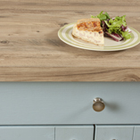 To replicate the look of a real pine worktop, choose our square edge Mississippi Pine rustic wood laminate worktops.