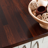If you are looking for a black worktop that is more resilient than oak, consider our wenge wooden worktops.