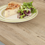 These rustic wood laminate worktops feature knots and other features naturally found in real pine.