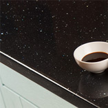 These shiny Black Andromeda countertops are highly-affordable and perfect for contemporary kitchens.