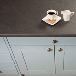 Our Luna Nero slate effect work surfaces are a unique choice for kitchens, and are both tactile and highly-affordable.