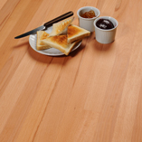 Solid beech wood has an attractive and prominent grain pattern.