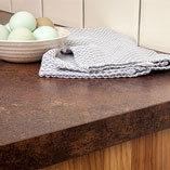 Our copper effect laminate worktops offer a stylish representation of copper surfaces