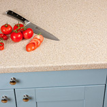 This Taurus Beige laminate worktop has a post-formed edge with a 6mm edge profile on top and bottom.